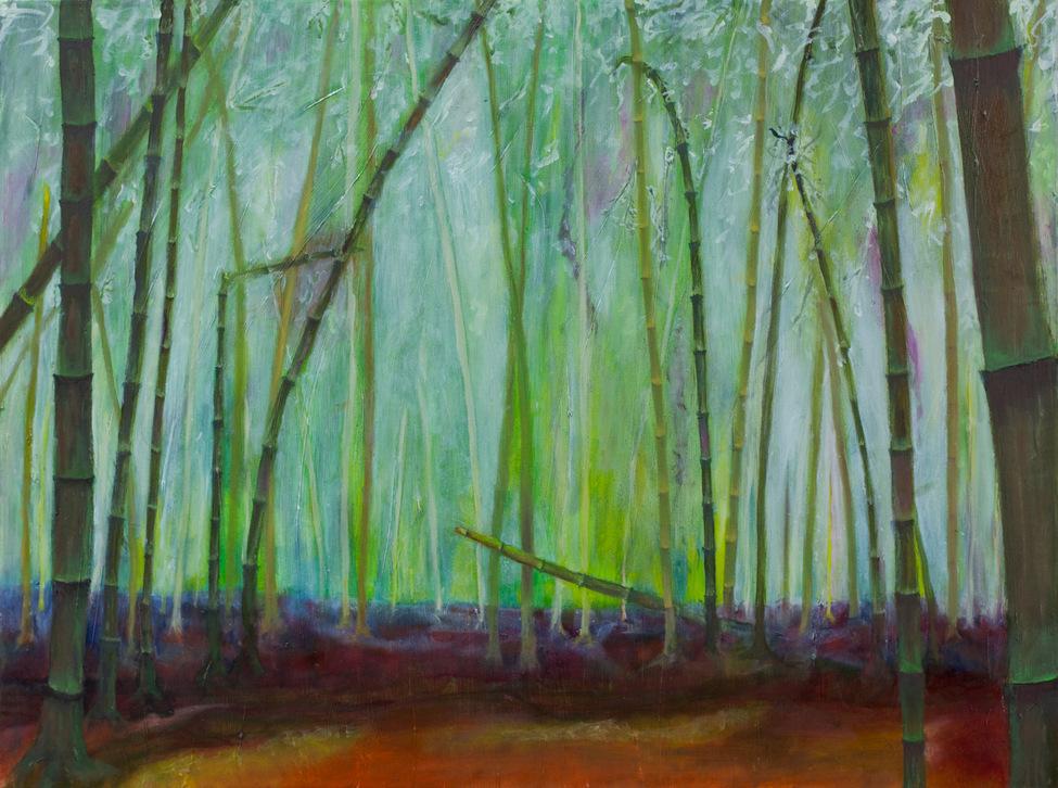Bamboo forest, stillness