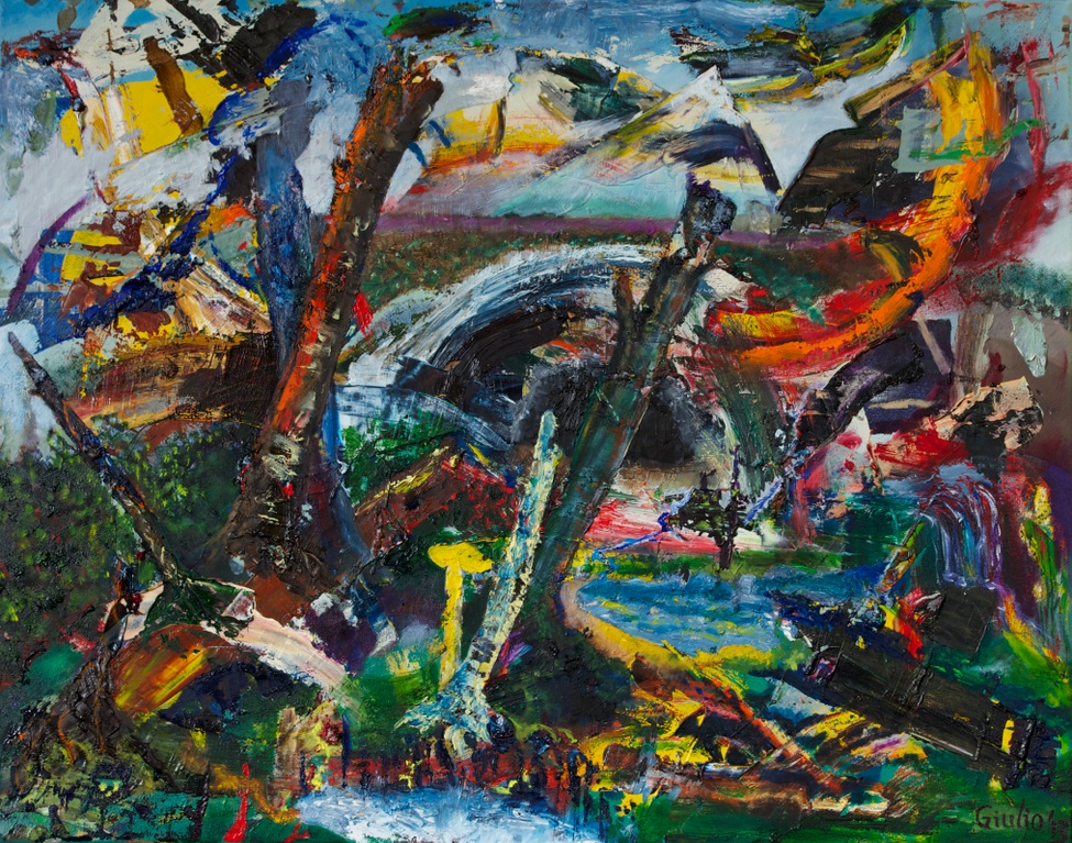 Abstract, partial appearance of a landscape